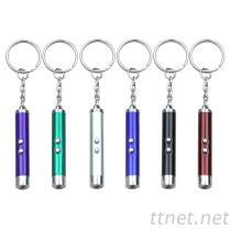 鋁合金登山扣環LED手電筒+雷射筆 3合1手電筒