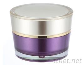面霜盒  亮金盖雾紫底. 涂装 .喷漆.表面处理.烤漆涂装