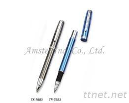 金屬鋼珠筆, 原子筆