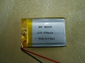 鋰聚合物電池 802235 3.7V 570mAh battery