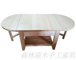 原木摺疊桌