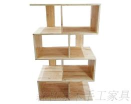原木造型擺飾櫃
