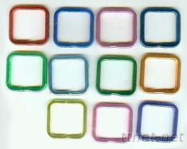 彩色方型钥匙圈