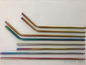 304電鍍彩色不鏽鋼吸管/吸管固定套