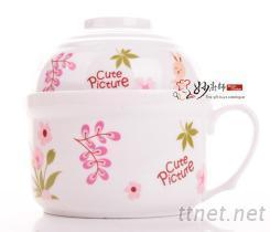 兔美美陶瓷保鮮碗