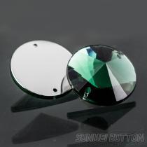 流行服飾配件長八角形邊雙孔透明壓克力手縫水鑽
