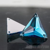 流行服饰配件三角形透明压克力手缝水钻