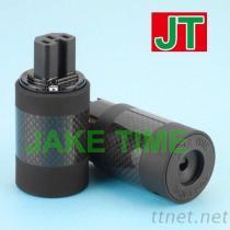 IEC 60320 C15 音響級碳纖維電源插座
