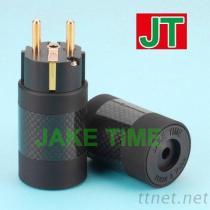 CEE 7/7 Schuko 音響級碳纖維電源插頭