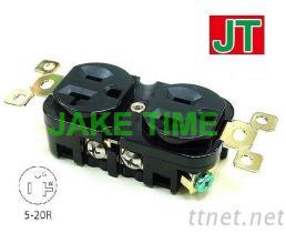 NEMA 5-20R 音響級美規直立刀片式雙胞胎插座