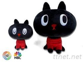 黑貓絨毛玩具