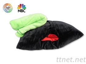 暖手抱枕被子兩用, 珊瑚絨毯子三合一, 插手午睡枕