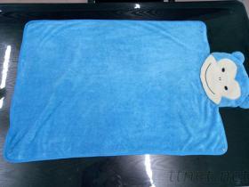 藍色猴子造型毯
