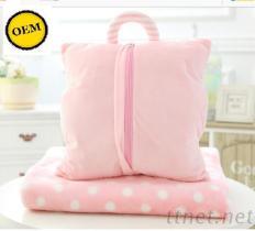 抱枕毯三合一 手提
