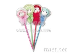 娃娃-羽毛造型笔