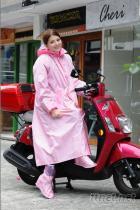 甜心格紋連身式尼龍雨衣