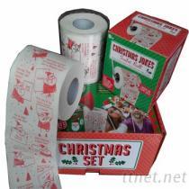 聖誕節印花衛生紙, 美元卷紙, 美金捲筒紙, 彩色圈圈紙
