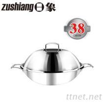 日象3層複合金不鏽鋼炒鍋(直徑38公分)