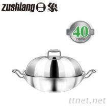 日象3層複合金不鏽鋼炒鍋(直徑40公分)