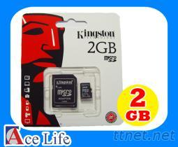 Kingston 2G 2GB microSD micro SD SDHC TF 記憶卡