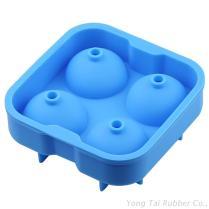 4顆球型矽膠製冰盒