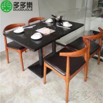 大理石火鍋桌椅 電磁爐火鍋餐桌椅 火鍋店家具定做批發