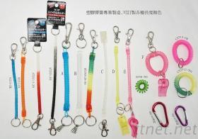 塑胶弹簧钥匙圈名录1