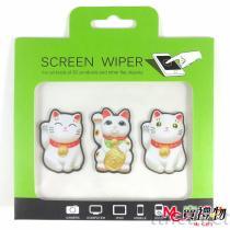 Mc卖礼物-MIT手机屏幕擦拭贴组合包礼盒套组-招财猫3片SET【W22B】