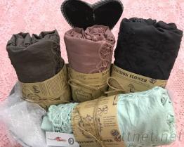 棉布刺繡圍巾