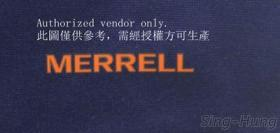 MERRELL 單色熱轉印標