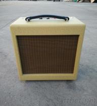 手工搭棚全電子管電吉他音箱5W黃色
