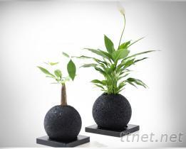 方先生 創意家居擺件竹炭顆粒花盆