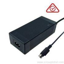60W開關電源, 50.4V1.25A 鋰電池充電器, 澳洲SAA RCM C-Tick認證