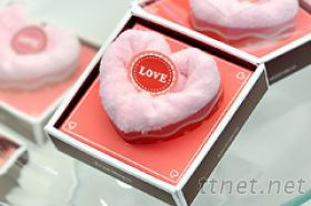 愛心造型毛巾蛋糕小禮盒