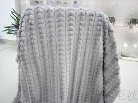 钻石纹绒毛毯