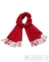 名媛红色羊毛围巾