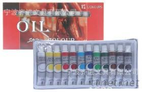 12色12Ml塑料管装油画颜料, 美术专用, 儿童水彩水粉用品