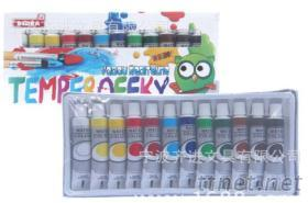 12色12ml塑料管裝水彩顏料