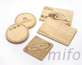 木吊卡, 木杯墊, 木質明信片, 祈福木牌