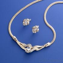 锆石项链耳环饰品组
