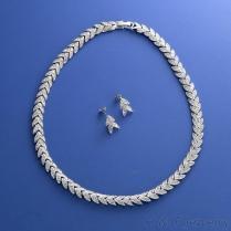 水鑽項鍊耳環飾品組