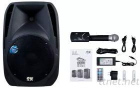 麥煲200W 拉杆音箱 可視麥克風 點歌機 接行動電話SD卡U盤播放 移動式卡拉OK