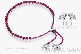 LEO 925纯银宝石手链