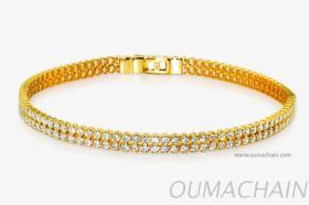 S1527WHG 925纯银手环宝石链
