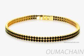 S1527BSG 925纯银手环宝石链