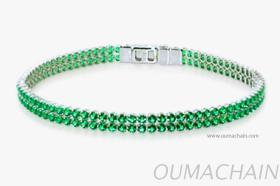 S1527GRR 925纯银手环宝石链