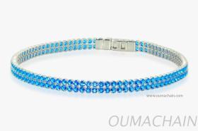 S152713R 925纯银手环宝石链
