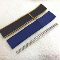 21公分不鏽鋼304筷+麂皮袋