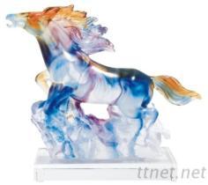 琉璃藝品-駿馬高升
