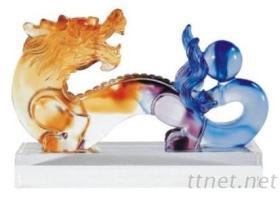 琉璃藝品-祥龍如意